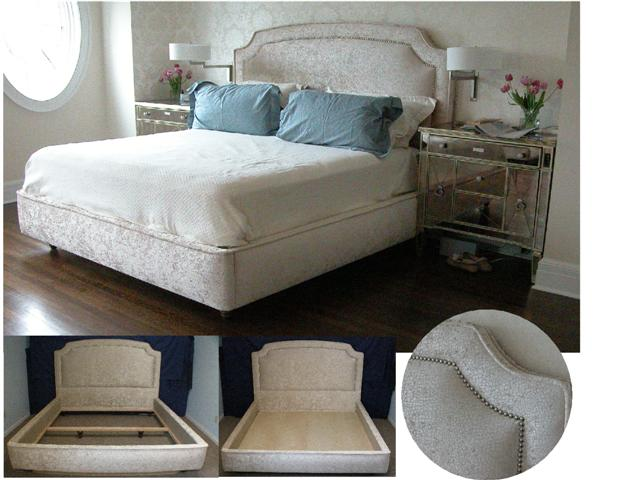 Custom upolstered bed